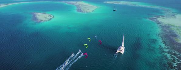 Croisière kite surf dans les Caraïbes